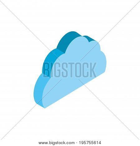 cloud data service to security connect vector illustration