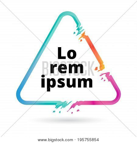 Abstract colorful triangle geometric or frame. Abstract splash liquid shape. Background for poster cover banner magazine placard. Logo design Vector illustration
