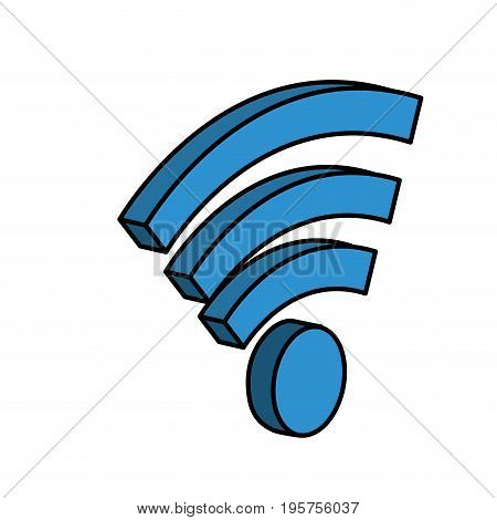 wifi technology to connect in the digital network vector illustration