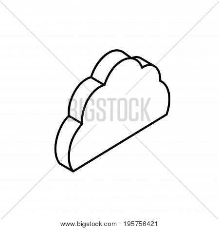 line cloud data service to security connect vector illustration