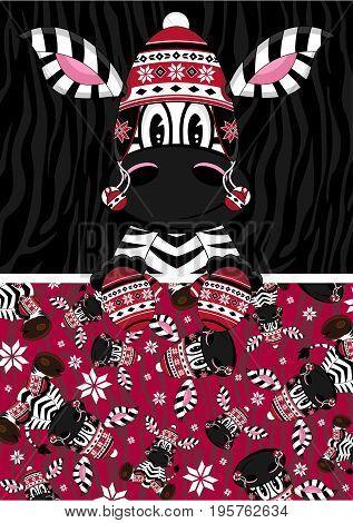 Bobble Zebra With Pattern.eps