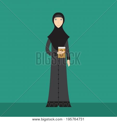 Lecturer Muslimah Character | set of vector character illustration use for human, profession, business, marketing and much more.The set can be used for several purposes like: websites, print templates, presentation templates, and promotional materials.