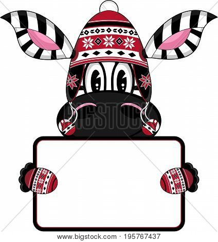 Bobble Zebra With Sign.eps