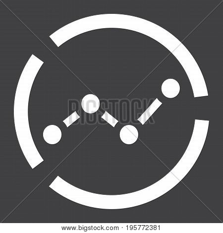 Market analysis solid icon, business and diagram, vector graphics, a glyph pattern on a black background, eps 10.