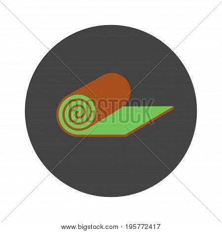 Roll lawn flat icon. Vector icon for web graphic