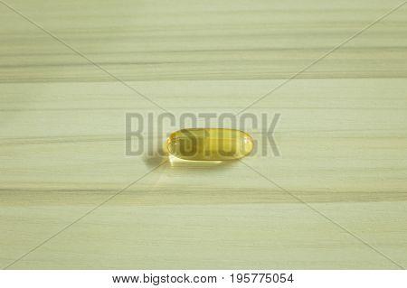 The Fish Oil Capsules Image Close Up