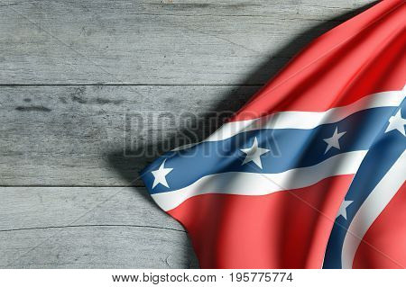 Confederate Flag On Wood