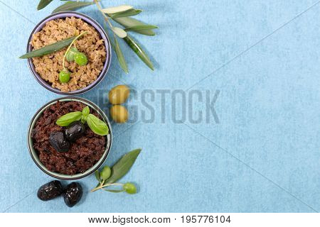 green and black olive,tapenade