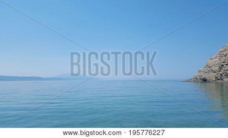 Beautiful Micros Aselinos beach on Skiathos island in Greece summer day in June