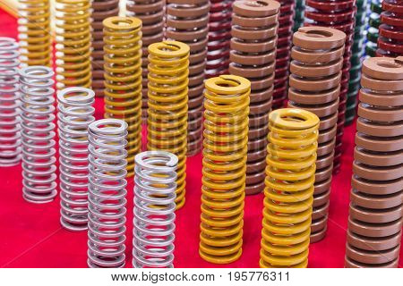 Colorful High strength coil metal springs for mold and die with different sizes