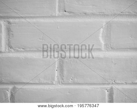 PHOTO OF PLAIN WHITE BRICK WALL BACKGROUND TEXTURE