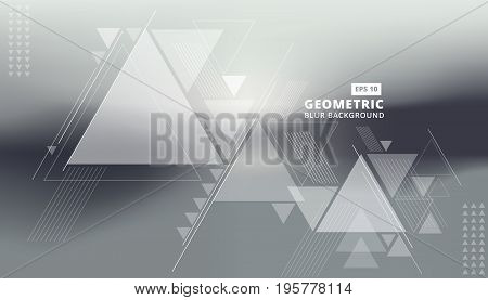 Abstract blurred background with geometric triangles composition. Triangle pattern with lines. For cover book brochure flyer poster magazine cd cover design t-shirt