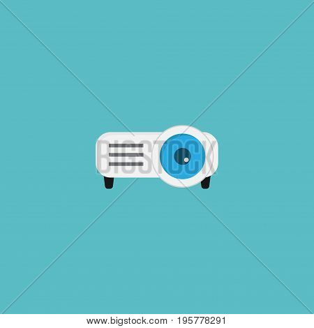 Flat Icon Projector Element. Vector Illustration Of Flat Icon Presentation Isolated On Clean Background