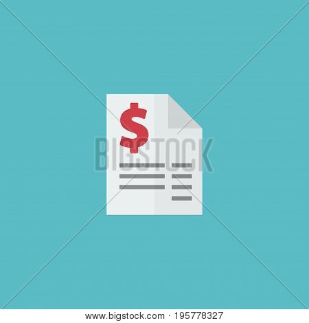 Flat Icon Tax Element. Vector Illustration Of Flat Icon Duty Isolated On Clean Background