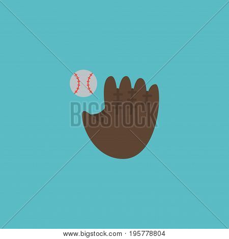 Flat Icon Baseball Element. Vector Illustration Of Flat Icon Glove  Isolated On Clean Background