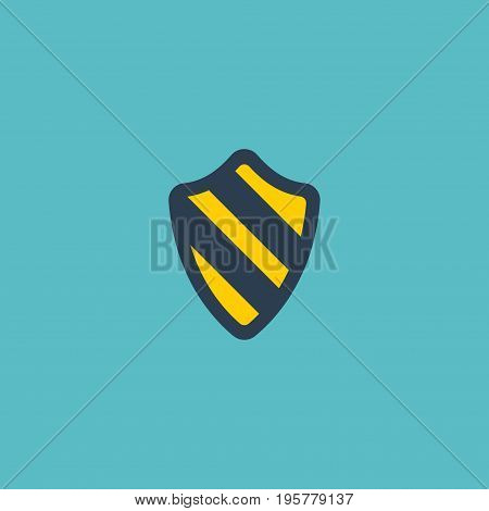 Flat Icon Protection Element. Vector Illustration Of Flat Icon Shield  Isolated On Clean Background