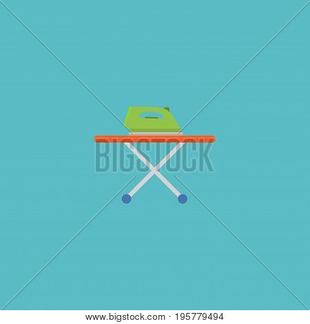 Flat Icon Ironing Element. Vector Illustration Of Flat Icon Housekeeping Isolated On Clean Background