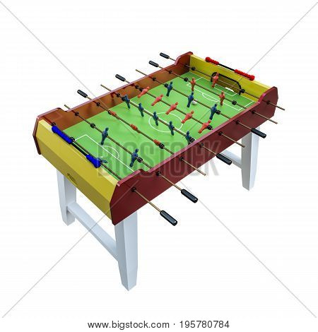 3d illustration of a soccer table isolated on white background