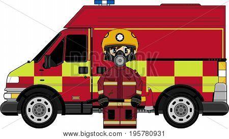Respo Fireman & Fire Truck.eps