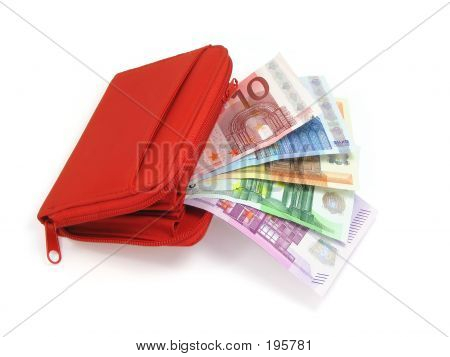 Euro Notes And Wallet