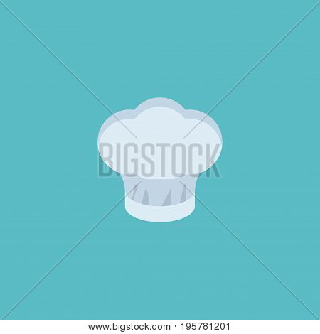 Flat Icon Cooking Cap Element. Vector Illustration Of Flat Icon Chef Hat Isolated On Clean Background