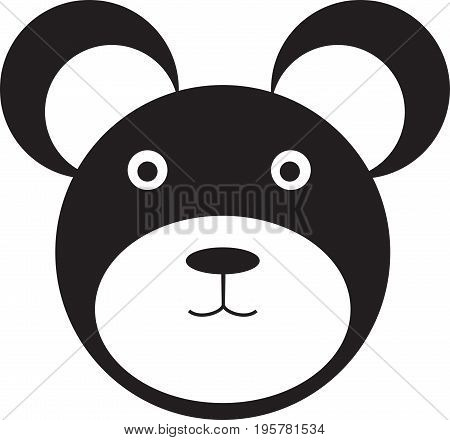 Black Bear Icon, Bear vector, Bear logo, Bear design Icon, Bear flat icon, Bear art, Bear head, vector animals
