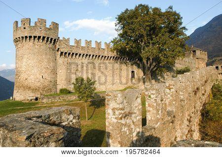 Castle Of Montebello At Bellinzona