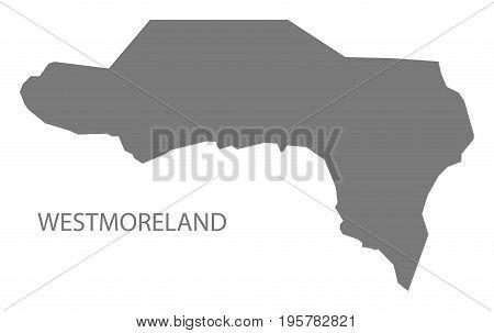 Westmoreland Jamaica Region Map Grey Illustration Silhouette Shape