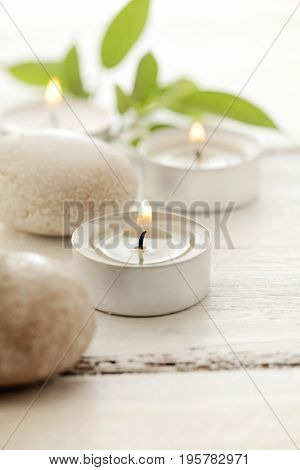SPA still life. aromatherapy candle