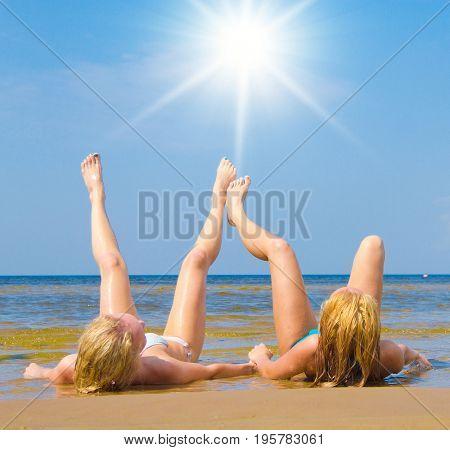 Joy Enjoying In Bikini