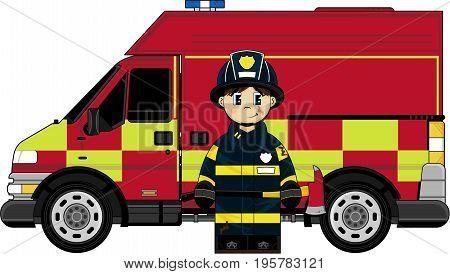 Fireman & Truck.eps