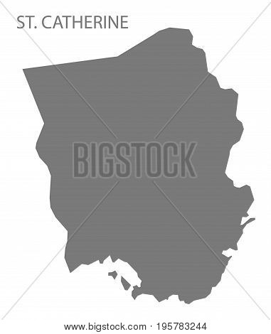 St. Catherine Jamaica Region Map Grey Illustration Silhouette Shape