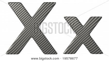 Carbon Fiber Font X Lowercase And Capital Letters