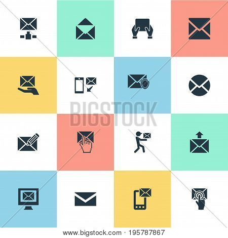 Vector Illustration Set Of Simple Mailing Icons