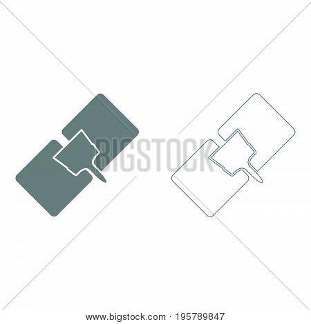 Drywall repair  it is grey  set icon .