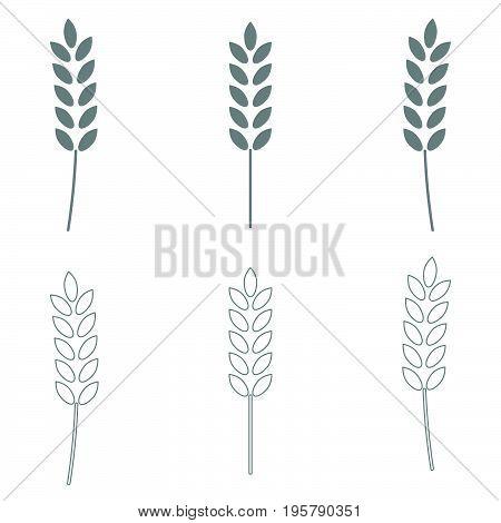 Wheat   it is grey  set icon .