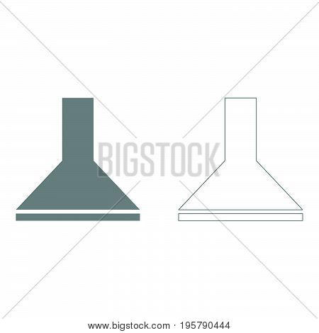 Exhaust hood it is grey set icon .