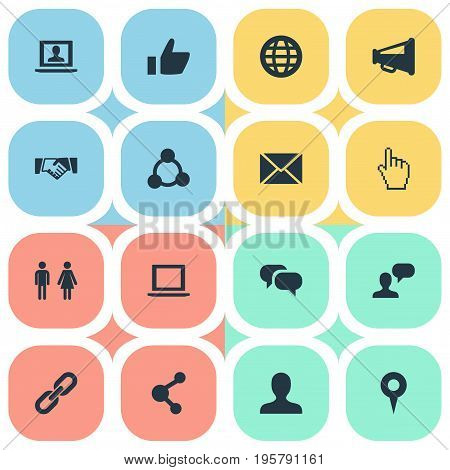 Vector Illustration Set Of Simple Social Icons