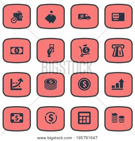 Vector Illustration Set Of Simple Currency Icons
