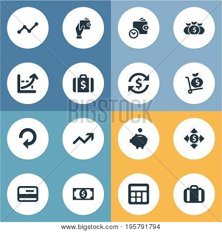 Vector Illustration Set Of Simple Bill Icons