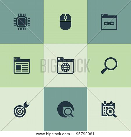 Vector Illustration Set Of Simple Optimization Icons