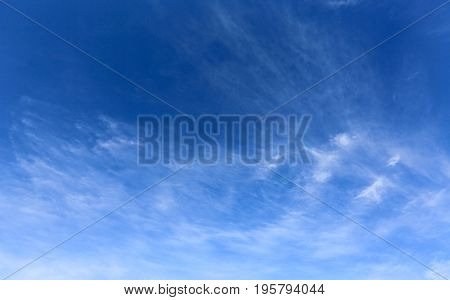 abstract clouds in summer blue sky