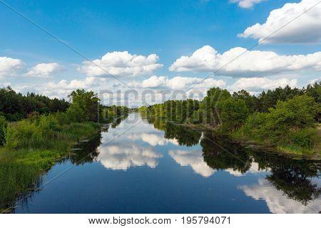 Nice summer scene on river