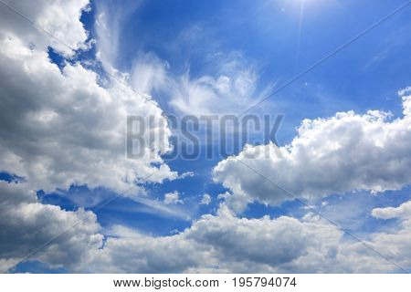 nice abstract clouds in summer sky