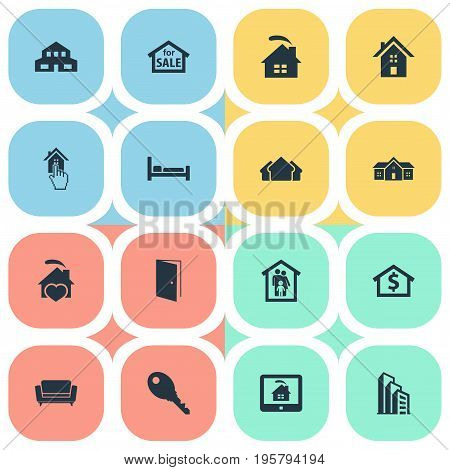 Vector Illustration Set Of Simple Real Icons