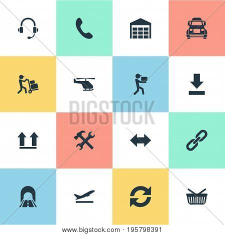 Vector Illustration Set Of Simple Systematization Icons