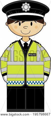 Policeman Yellow Jacket.eps