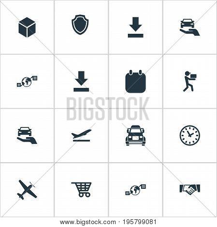 Vector Illustration Set Of Simple Logistics Icons