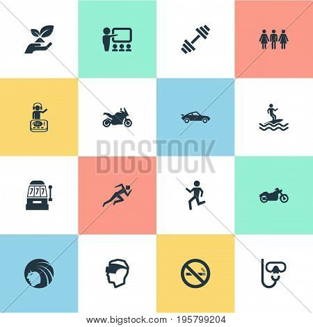 Vector Illustration Set Of Simple Health Icons