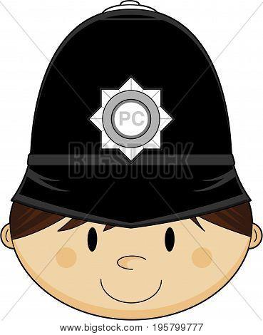 Classic Hat Policeman Head.eps